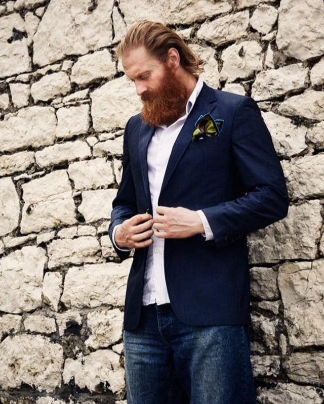 Al Mennie, irish man, irish model, man with red beard, caroline goransson photographer, eadach