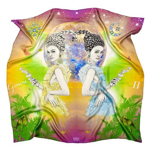 Eadach Zodiac Series Gemini Silk Scarf by Sara O'Neill