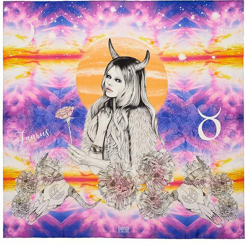 Eadach Taurus Zodiac Series Silk Scarf by Sara O'Neill