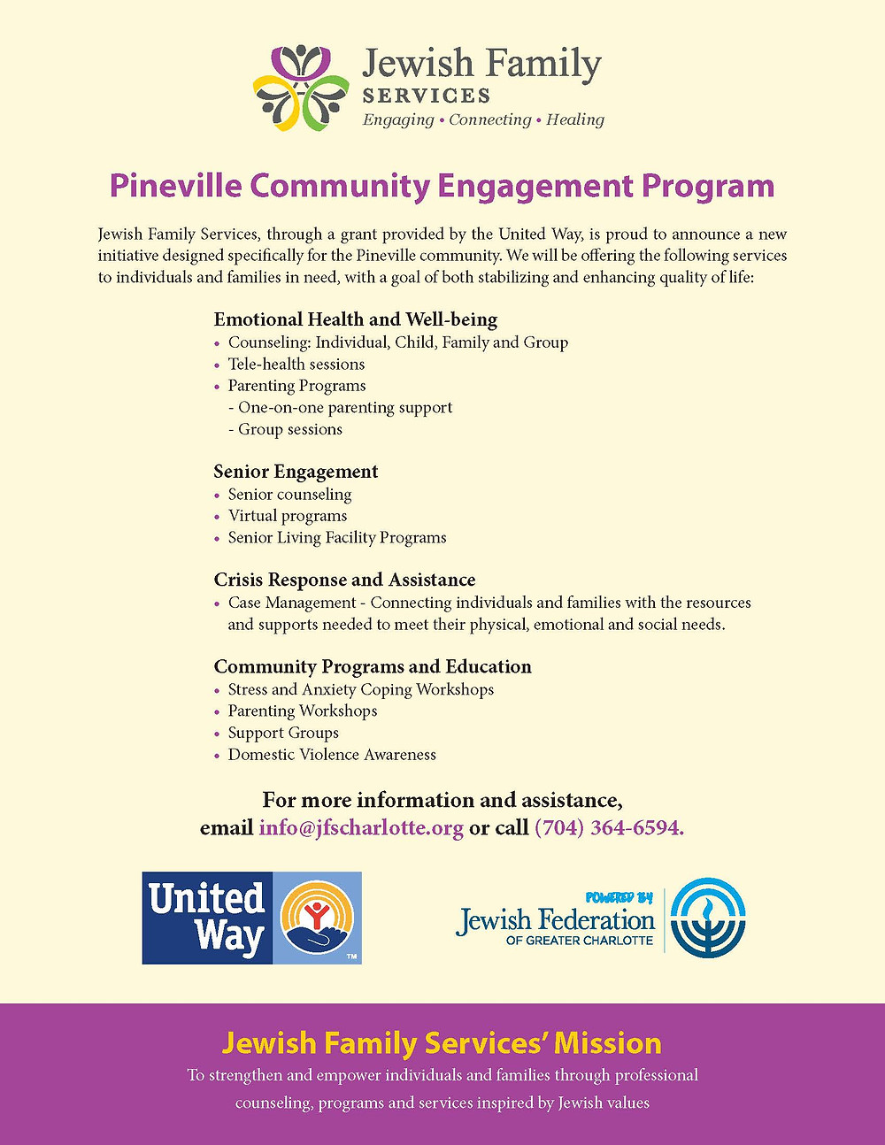 Jewish Family Services Pineville Community Engagement Program