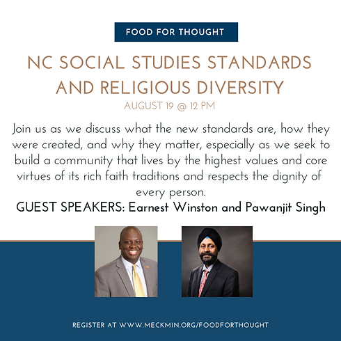 Food For Thought: NC Social Studies Standards & Religious Diversity