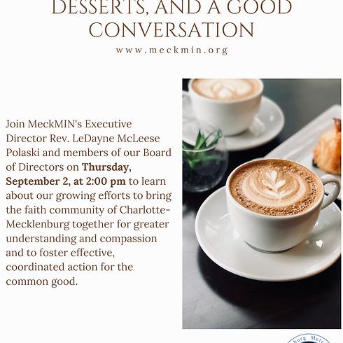 Faith, Community & Non-Profit Check-In Meeting