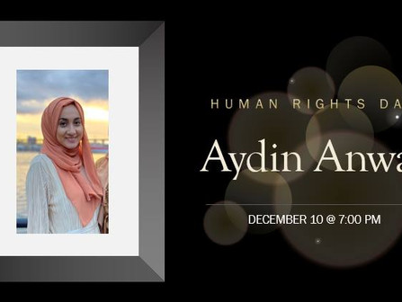 You are invited to attend a Human Rights Day Commemoration on Dec 10 at 7pm