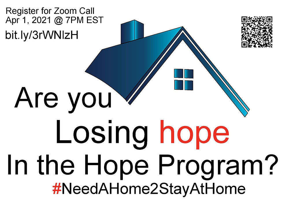 Are you losing hope in the HOPE Program 2021