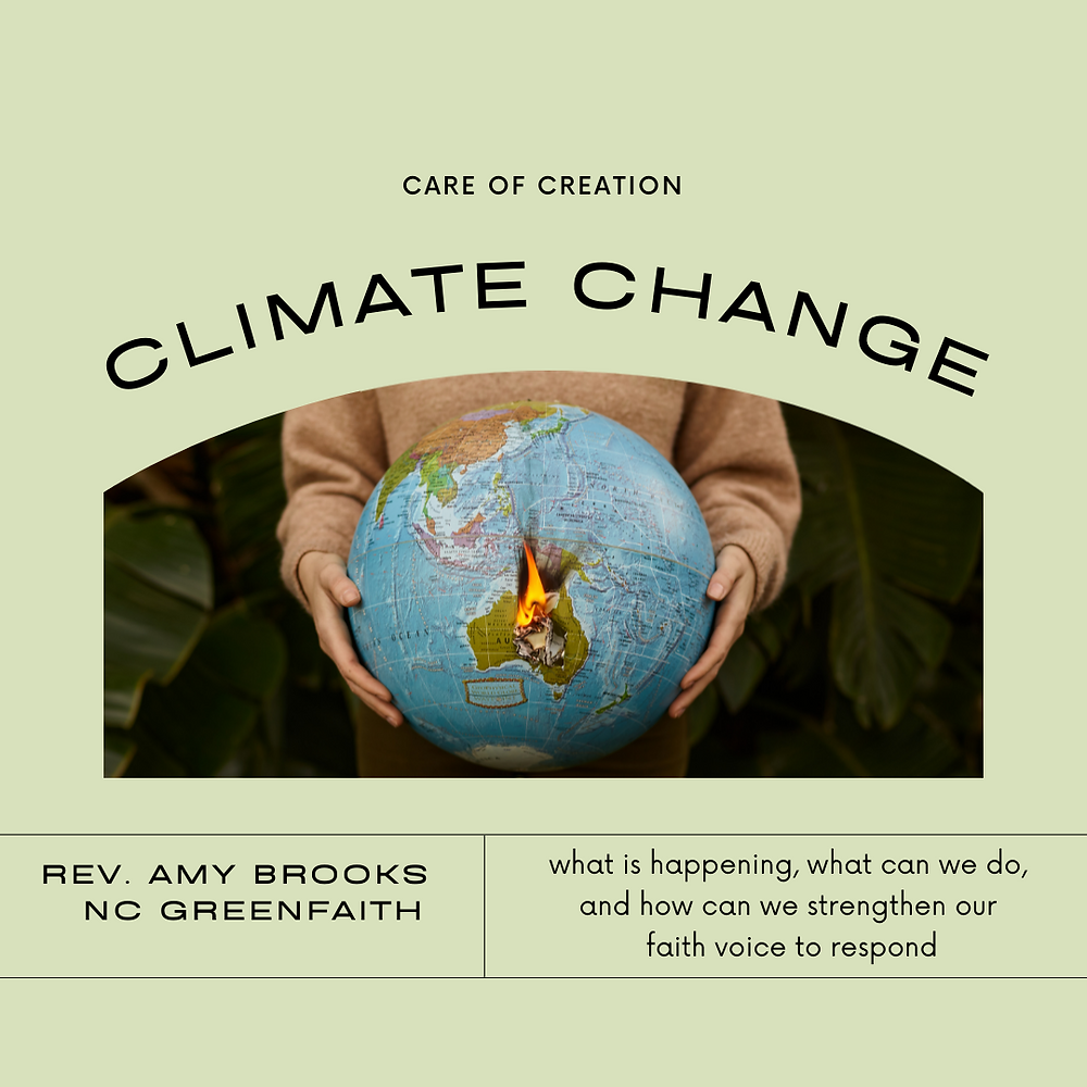 MeckMIN Food for Thought Climate Change with Rev. Amy Brooks