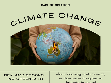 Climate Change, Care of Creation: April Food for Thought Resources