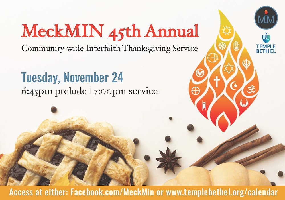 MeckMIN 45th Annual Interfaith Thanksgiving Service
