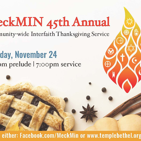 MeckMIN's 45th Annual Community-Wide Interfaith Thanksgiving Service