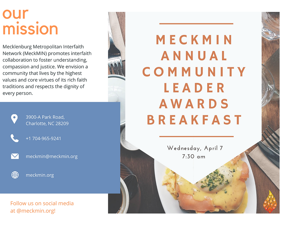 MeckMIN Annual Community Leader Awards Breakfast 2021