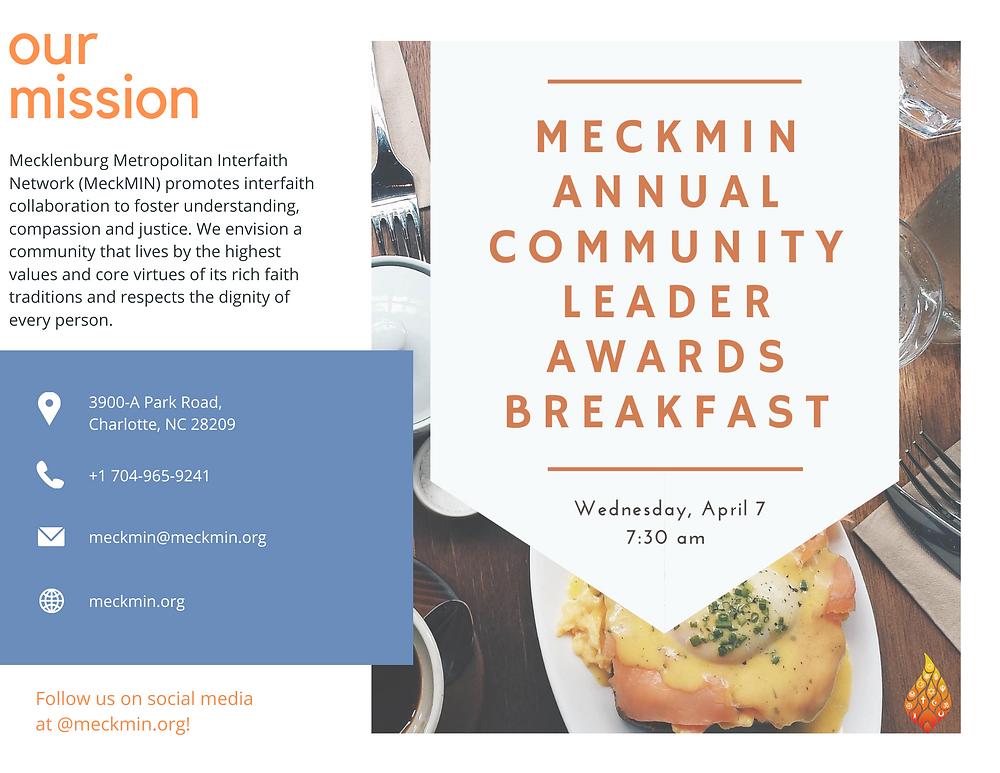 MeckMIN Annual Community Leader Awards Breakfast 2021