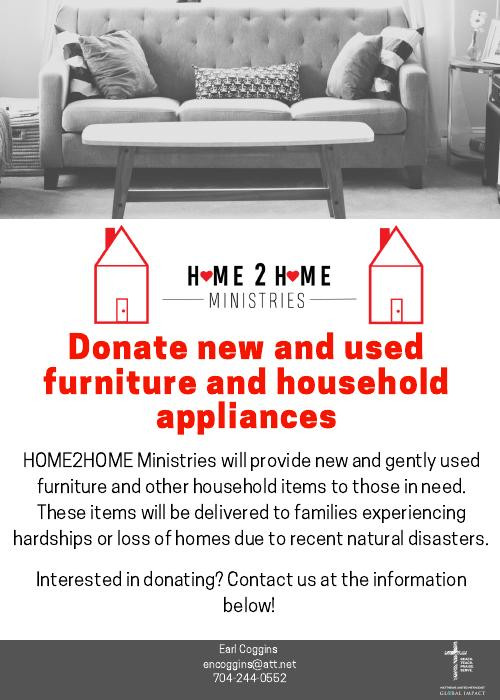 HOME2HOME Ministries Furniture Collection Charlotte NC