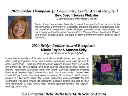 2020 Community Leader Award Winners