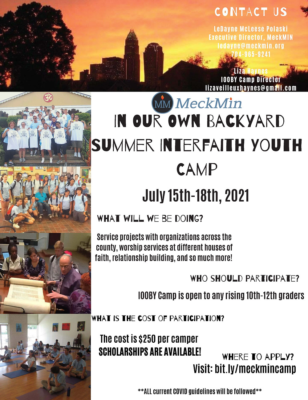 MeckMIN interfaith youth summer camp, In Your Own Backyard