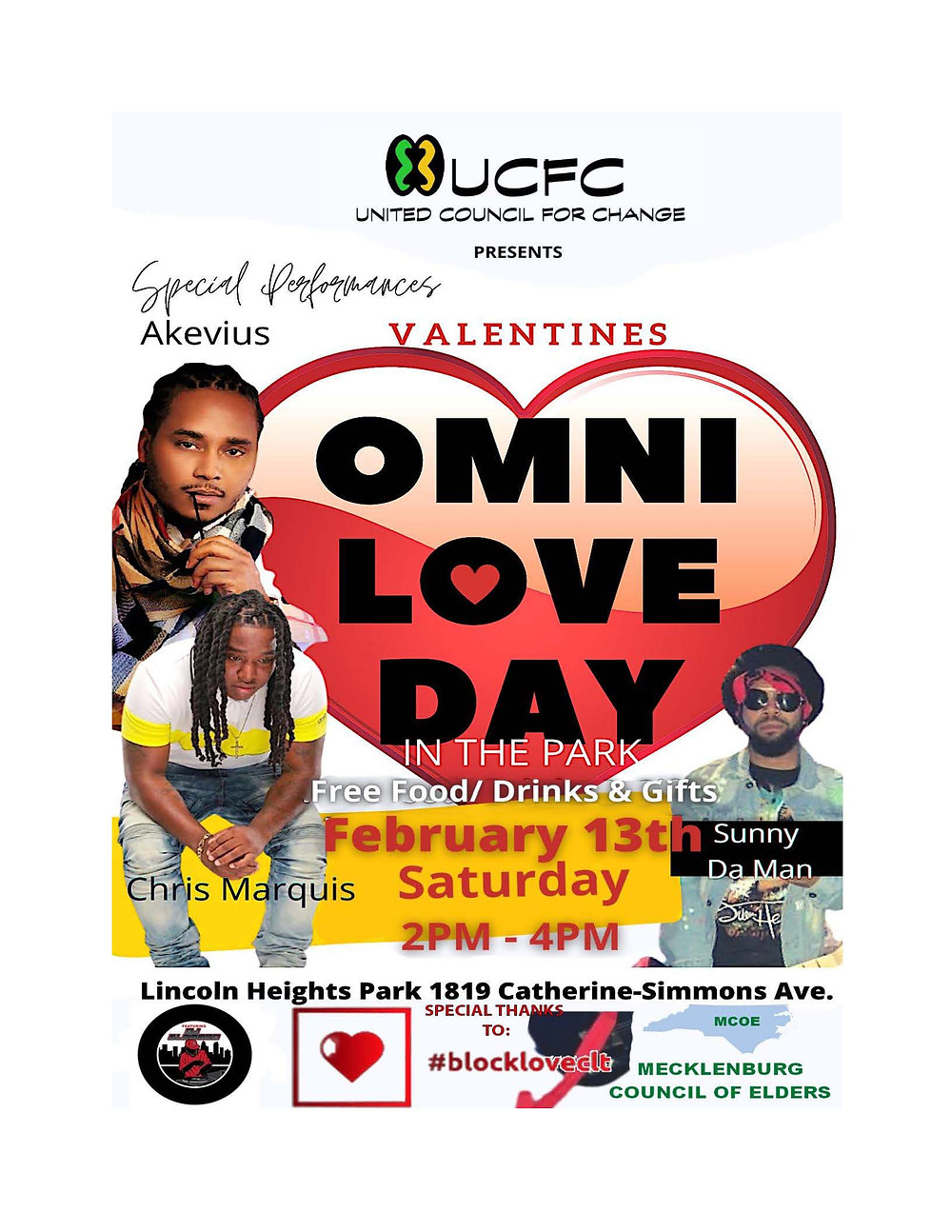 United Council for Change, Omni Love Day, Block Love Charlotte, Mecklenburg County