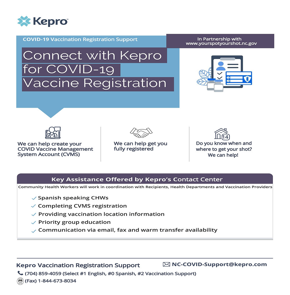 Connect with Kepro for Covid-19 Vaccine Registration