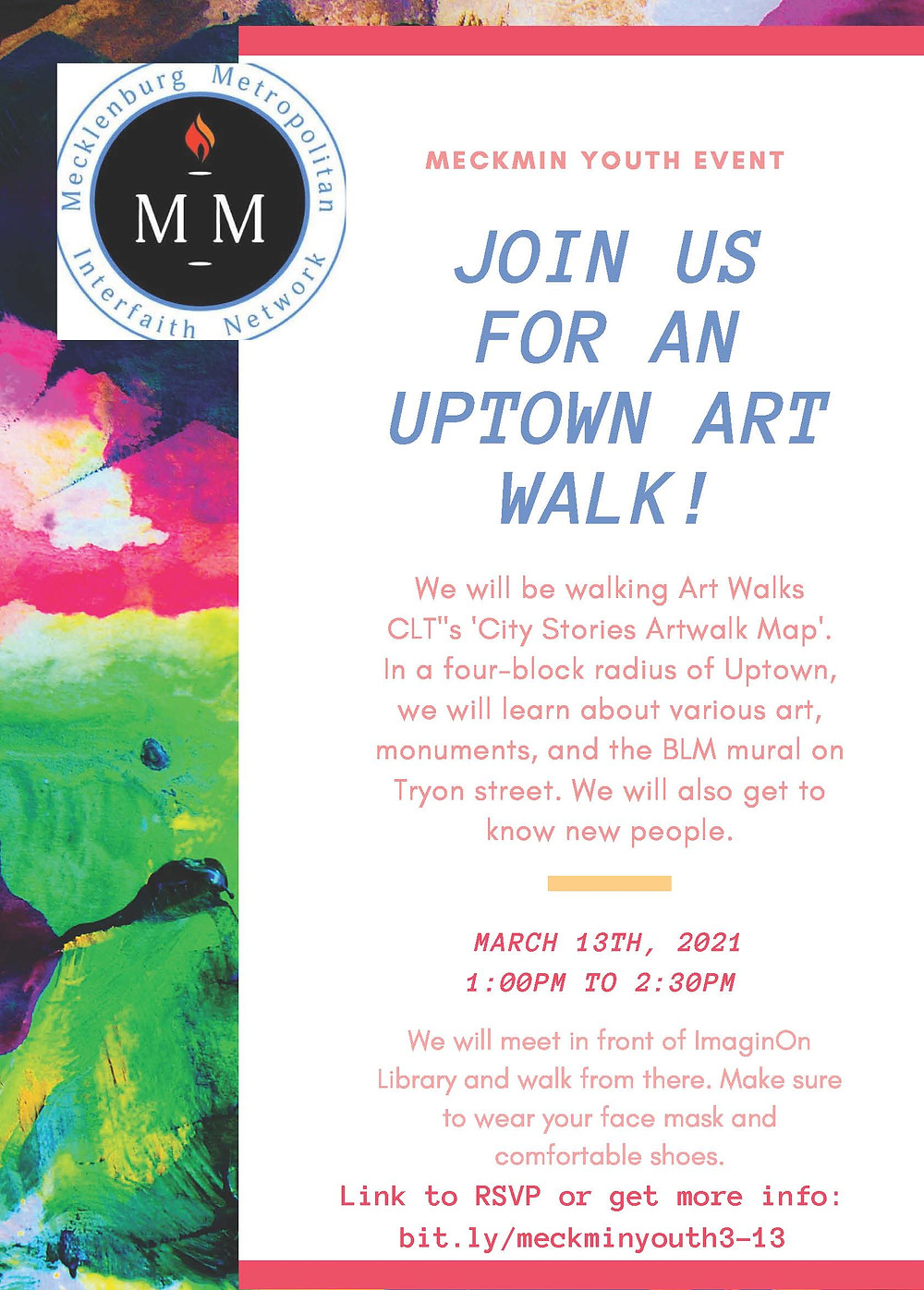 MeckMIN Interfaith Youth Uptown Art Walk 2021