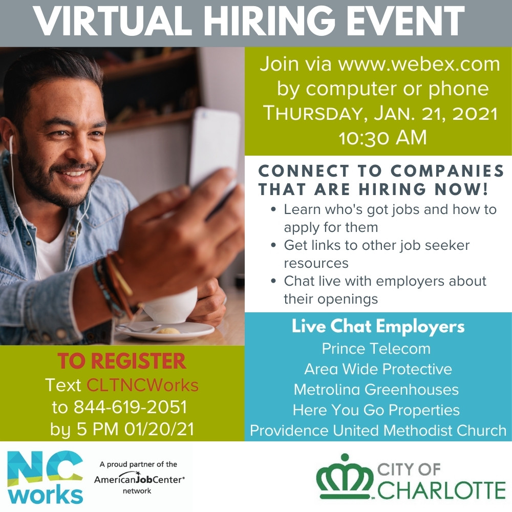 City of Charlotte Virtual Hiring Event