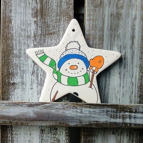Snowman Ceramic Star