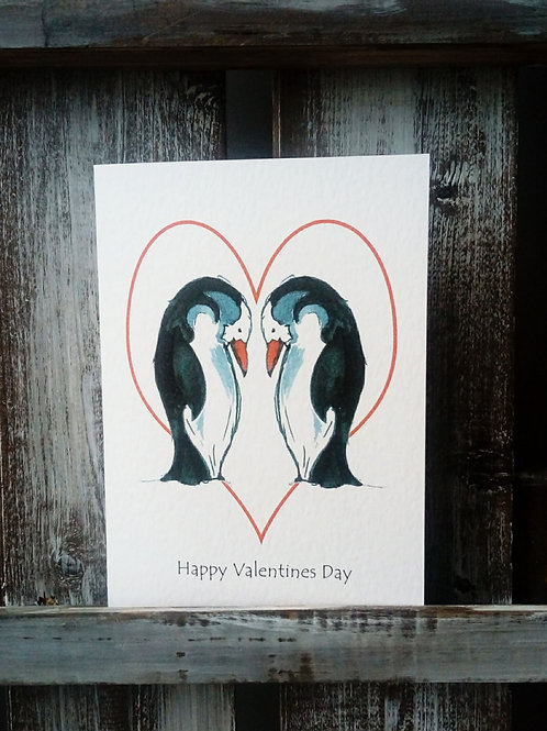 Penguin Couple Card
