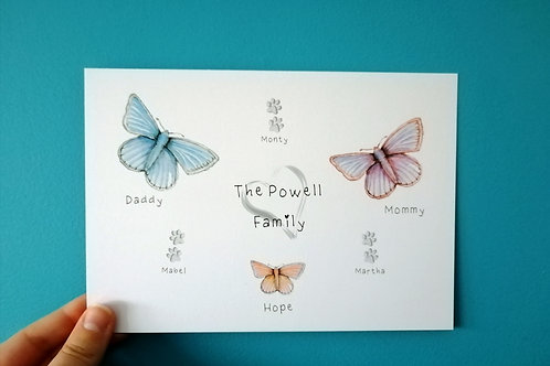 Butterfly Family Print