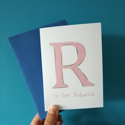 Letter Initial Card