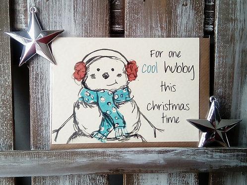 Cool Hubby Christmas Card