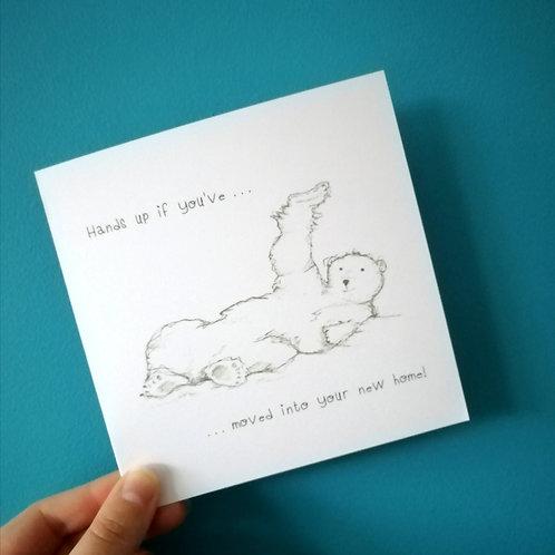 New Home Polar Bear Card