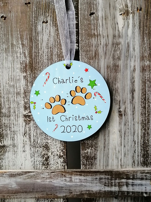 Dog's First Christmas Decoration