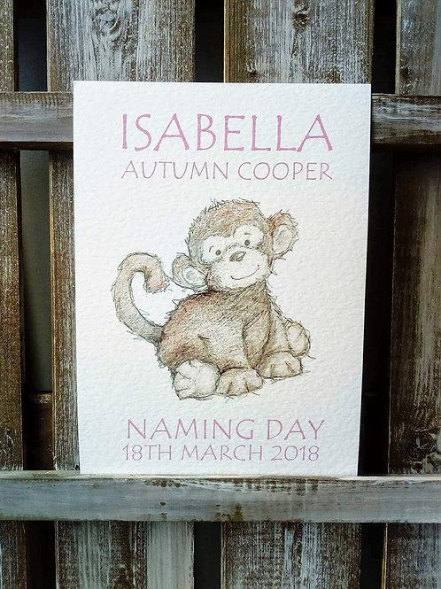 Cute Monkey Print