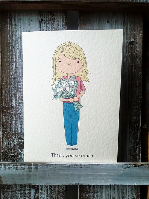 Thank you Cartoon Card