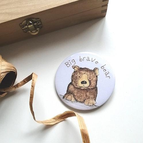 Big Brave Bear Badge