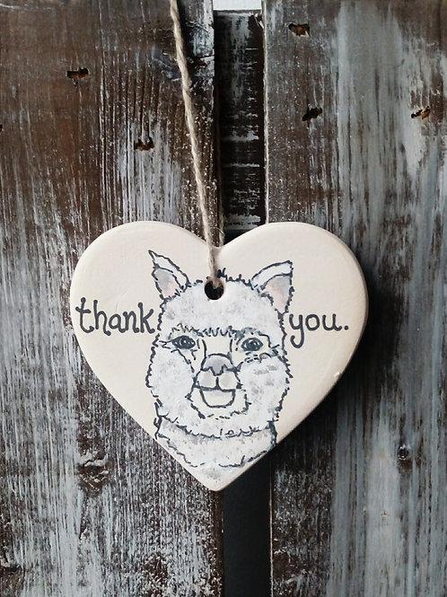 Llama Ceramic Heart
