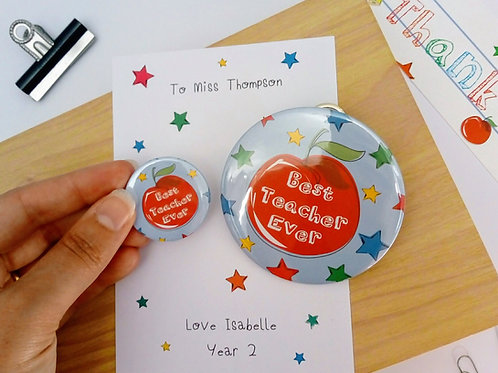 Teacher Thank You Badge Set