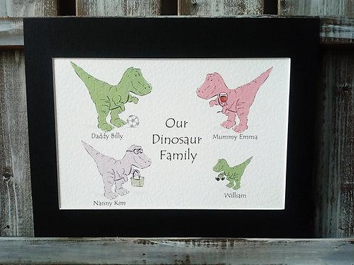 T-Rex Family Custom Print