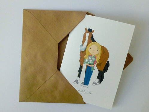 Horse & owner card