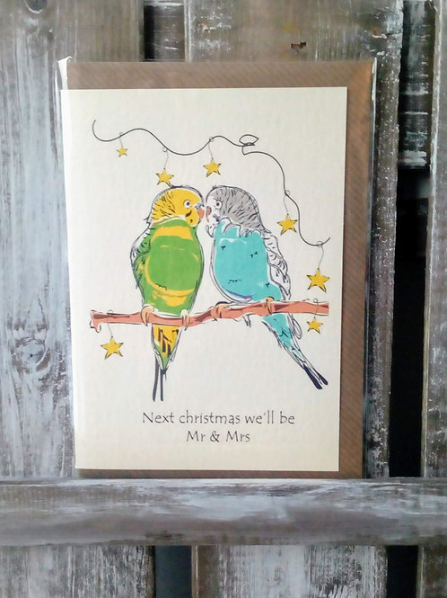 Next Christmas we'll be Mr & Mrs Card