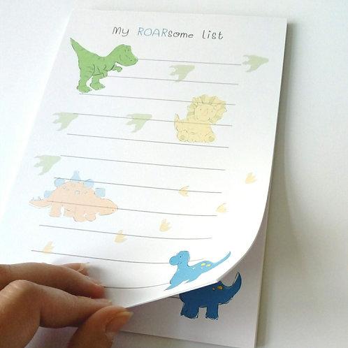 Roarsome Dinosaur Notepad