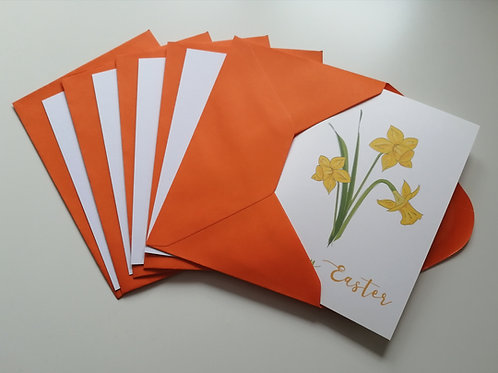 Happy Easter Daffodil Cards