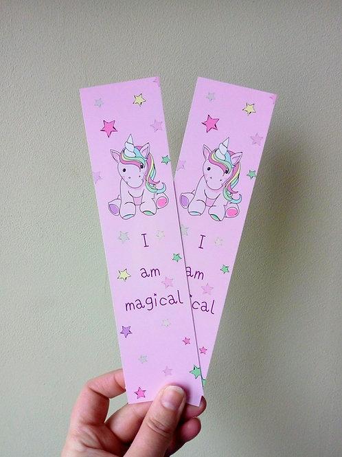 Unicorn 'Magical' Bookmark