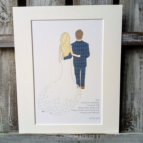 Father of the Bride Card & Print
