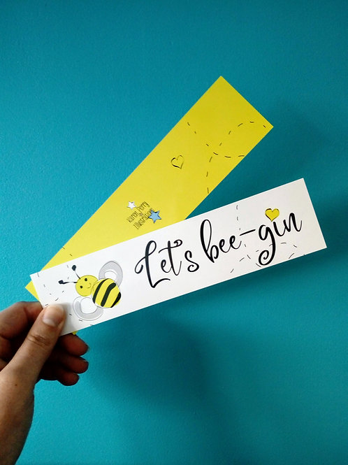 Let's Bee - gin Bookmark