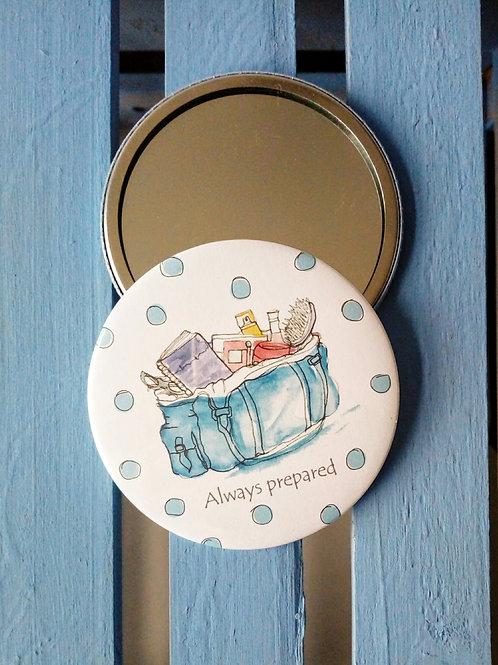 Always prepared pocket mirror