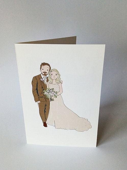 Bride & Groom Card & Print