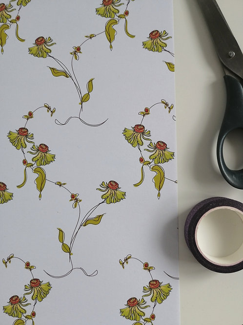 Helenium Floral Gift Wrap
