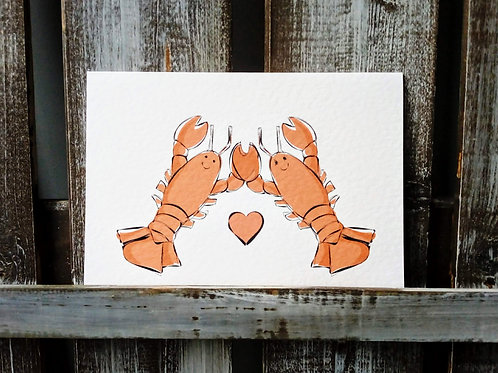 What a pair of lobsters! Cards and Prints