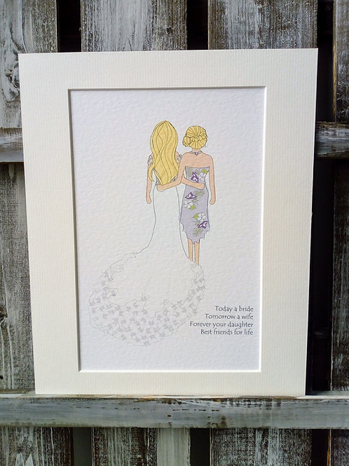 Mother of the Bride Card & Print