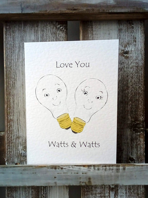 Love You Watts Card