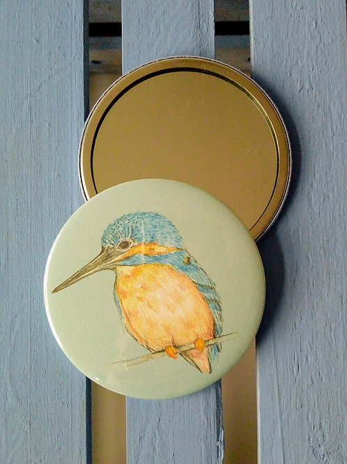 Kingfisher pocket mirror
