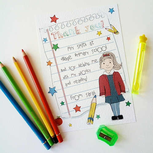 Teacher Thank you Card & Print