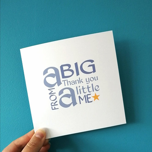 A Big Thank you from Me Card